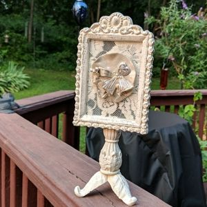 Framed jewelry art vintage components